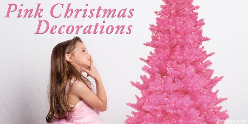pink-christmas-decorations-ornaments-trees